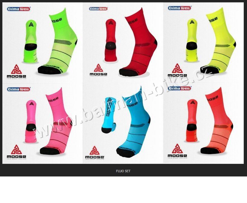 Cyklistické Ponožky Moose Race FLUO sv.zelené 0e50afba30